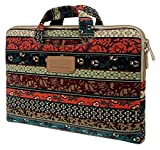 Classical Bohemian Canvas Neoprene Netbook / Laptop / Notebook Computer / Tablet PC Sleeve Case Bag Cover for HP Lenovo Acer Dell Toshiba ASUS Samsung Sony Apple MacBook - (15-15.6 Inches)