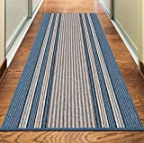 Rugs Superstore NEW BLUE COLORFUL MODERN WASHABLE NON SLIP KITCHEN UTILITY HALL LONG RUNNER DOOR MAT RUG (5 SIZES AVAILABLE) (66x225cm (2'2 x7'4))
