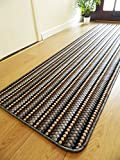 Rugs Superstore NEW LEAD GREY COLOUR MODERN WASHABLE NON SLIP KITCHEN UTILITY HALL LONG RUNNER DOOR MAT RUG (5 SIZES AVAILABLE) (66x120cm)
