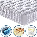 Vesgantti 24cm Deep Multilayer Ergonomic Design Orthopaedic Mattress with Memory Foam and Pocket Spring – Multiple Sizes Available – 4FT6 Double