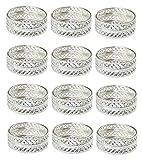 India Bazaar Set of 12 Tealight Holders Candle Votive Wedding Decoration (Silver)