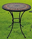 Garden Table Sardena, Mosaic Furniture in Mediterranean Style, table Round