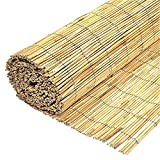 Wilsons Direct Natural Peeled Reed Fence Wooden Garden Screen Fence Fencing Privacy Panel Roll (1.2m x 4m)