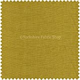 New Soft Designer Linen Look Chenille Fabric Ideal For Upholstery Drapes Blinds Curtains Cushions Yellow Zest Colour