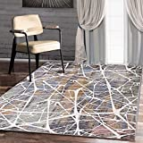 A2Z RUG Modern Top Quality ( Green, Beige, Multi 150 x 225 cm - 4'9' x 7'4' ft ) Deco Ceramic Collection Area Rug, Perfect for Living room - dining room - Bedroom Rugs & Carpets
