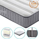 Vesgantti 8.6 Inch Economic Design 3ft Single Medium Firm Spring Mattress - with Breathable and Smooth Surface and High Density Comfy Foam, Multiple Sizes Available - Max 100kg