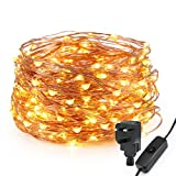 Kohree LED String Light Waterproof Copper Wire Fairy Starry Lights 200 LEDs 20M/65 ft Firefly Lights Warm White Garden Patio Party Valentine's Day Wedding Christmas Tree Outdoor Decoration Bedroom [Energy Class A+]